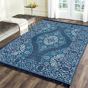 Handmade Chenille Living Dining Bed Room Rug Carpet Dhurrie 3 ft x 5 ft