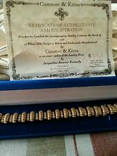 Camrose and Kross Jackie Kennedy gold CZ Bracelet w.cert.auth. And box