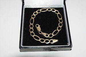 9ct Yellow Gold Figaro Bracelet
