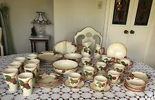 Vintage-Franciscan-Califo rnia-Handpainted-Apple Pattern-Dinnerware Set 54 Pieces