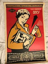 "Shepard Fairey Hand Signed Print "" Stay Up Girl "" Obey Giant Lithograph"