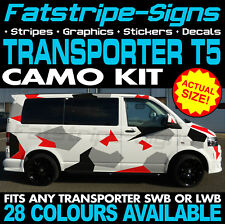 VW TRANSPORTER T5 CAMO GRAPHICS STICKERS STRIPES DECALS DAY VAN CAMPER SWB LWB