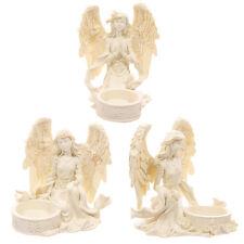 Angel Estatuilla té titular de la Luz Votiva Vela Incienso Cono Quemador Estatua Figura