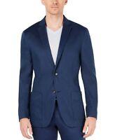Alfani Mens Blazer Midnight Blue Size XL Two Button Linen Notched $139 171