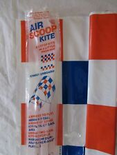 """VINTAGE SYNESTRUCTICS AIRSCOOP CHECKERBOARD TWO SAIL KITE - 34"""" WIDE SAILS"""