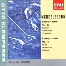 Mendelssohn: Symphony (Sinfonia) No 3 & 4 / Otto Klemperer - CD Emi