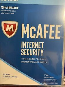 McAfee MIS17ESAORAA 2017 Internet Security, 10 Devices