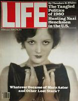 Life Magazine Vtg Feb 1980 - Mary Astor Cover - Nazi Hunting - No Label - EX