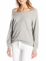 REBECCA MINKOFF Women's Grey Rainbow Off-Shoulder Ziering Top $98 NWT