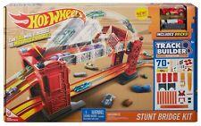 Hot Wheels Stunt Bridge Kit Track Builder  - Includes Car & Bricks - 70+ Pieces