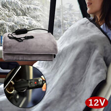 12V Electric Heated Car Van Truck Flannel Cosy Warm Winter Blanket Cover