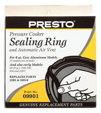 Presto Pressure Cooker Sealing Rubber Ring Gasket For 6 Qt, 09901