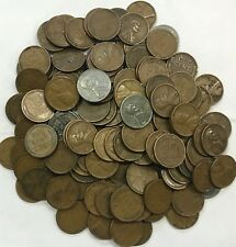 1909 - 1939 WITH STEELIES - 1 POUND WHEAT CENT BAG - NO 1940 OR 1950 COINS!!!!!
