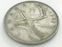 1949 Canada Twenty Five 25 Cent Quarter Circulated Canadian George VI Coin J533