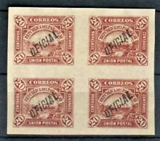 Paraguay Sc 03 BL 4,07 Bl 4  OVERPRINT INVERTED BACK  mint hr  FVF
