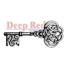 "Deep Red Cling Stamp 1.25""X3"" - Celtic Key"