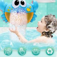 Plastic Cartoon Crab Bubble Machine Music Bubble Maker Baby Kids Bath Shower Toy