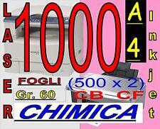 1000 FOGLI A4 CHIMICA COPIANTE CB BIANCA CF ROSA STAMPA LASER INKJET
