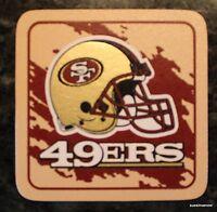 San Francisco 49ERS Coaster Set 4 Football NFL Licensed Sports DRINK FAN