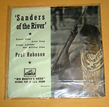 "Vintage Paul Robeson ""Sanders of the River"" 45RPM Record-Made In Great Britain"