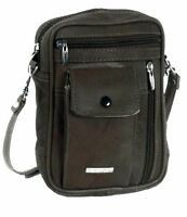 Mens Small Leather Manbag Phone Pouch Crossbody Shoulder Bag