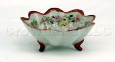 Decorative China Oriental Scene Footed Bowl and Saucer Plate - Includes Both
