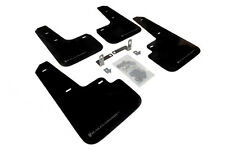 RallyArmor Black Mud Flaps (Grey Logo) for 2013+ Mitsubishi Mirage