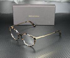 DOLCE & GABBANA DG3242 911 Cube Black Gold Demo Lens 50 mm Women's Eyeglasses