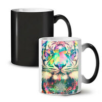 Psychedelic Tiger NEW Colour Changing Tea Coffee Mug 11 oz | Wellcoda