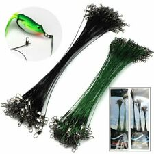 15/25/30cm Lure Coated Trace Fish Wire Leader Spinner Pike Sea Fishing 3Sizes