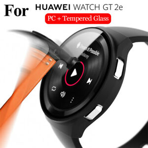 Case Screen Protector 9H Tempered Glass Full Cover For HUAWEI WATCH GT 2e 46mm