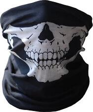 Black Ghost Skeleton Skull Face Mask Biker Costume Game Halloween Cosplay