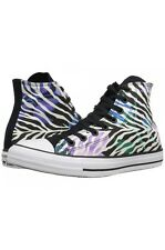 Womens Converse Chuck Taylor All Star Hi Top Sneakers Black/White/Violet-Size:10