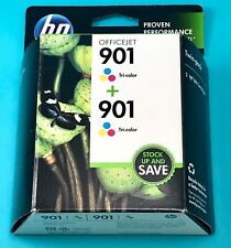 Genuine OEM HP 901 Tri Color Twin Pack INK Cartridges CZ076FN Brand NEW 03/2016