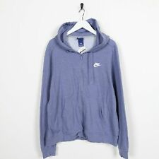 Vintage Women's NIKE Small Logo Zip Up Hoodie Sweatshirt Purple Large L