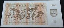 1992 | Lithuania 1 Talon SG055681 Bank Note | Bank Notes | KM Coins
