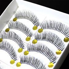 10Pairs Natural Thick Long False Eyelashes Fake Eye Lashes Voluminous Makeup wk