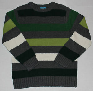 5 6 GUC The Children's Place Gray Green Striped Sweater Boys 5/6 S