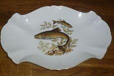 Platte  33  cm/ 22  cm Hutschenreuther  Baronesse  Goldrand  Fisch  Fischmotiv