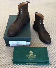 Crockett & Jones Conniston Boots - Dark Brown Rough-Out Suede - Men's 10.5 UK