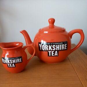 Taylors of Harrogate Yorkshire Tea Teapot and Milk Jug