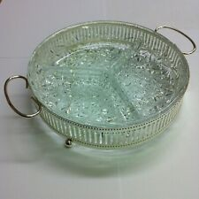 Hors D'oeuvre dish - Silver Plated and Glass - The Jewellers Collection