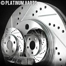Fit 2016 Lexus IS200t Rear HartBrakes Drill Slot Brake Rotors+Ceramic Brake Pads