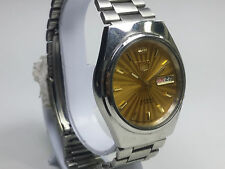 VINTAGE SEIKO 21 J AUTOMATIC DAY-DATE JAPAN MADE MEN'S DIAL WRIST WATCH AC40