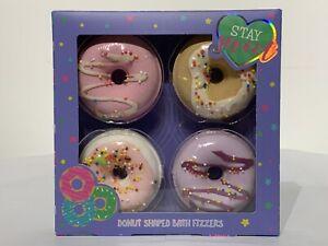 4 Pack 125g Doughnut Bath Bomb Fizzers Bathbombs Stay Sweet
