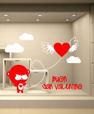 VSV0164 Vetrofania s.valentino adesivi murali wall stickers Orsetto 120x93cm
