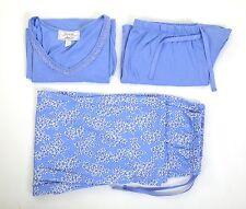 Carole Hochman 3 Piece Capri, Shorts & Lace Trimmed Vest PJ Set *Size UK S* Lila