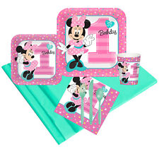 New listing Minnie Mouse 1st Birthday Deluxe Kit (Serves 8 Guests)