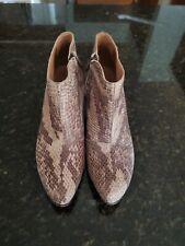 Fluevog Wonders Lynx Python Low Heel Ankle Boot Bootie 8.5 8 1/2