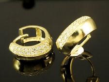 333 Gold Creolen  Scharnier Creolen 14,7 x 5,7mm 1 Paar mit Zirkonia Steinen